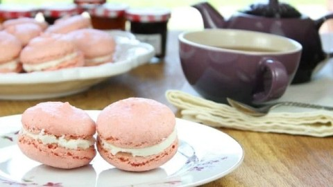 Macarons with Champagne Buttercream Recipe from Miss in the Kitchen
