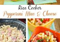Pepperoni Mac & Cheese made in a rice cooker! From Miss in the Kitchen