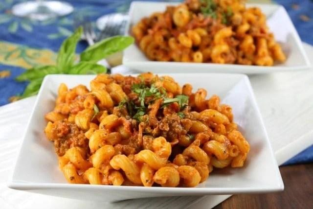 Bertolli Pizza Pasta Skillet Recipe | missinthekitchen