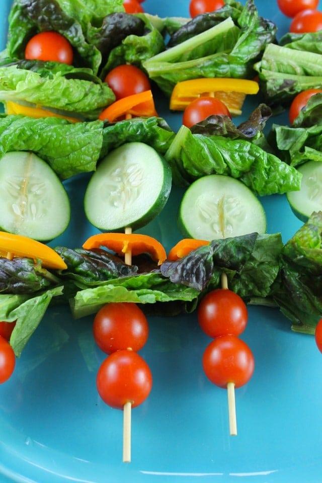 Salad Kebabs Recipe from missinthekitchen.com #ProgressiveEats