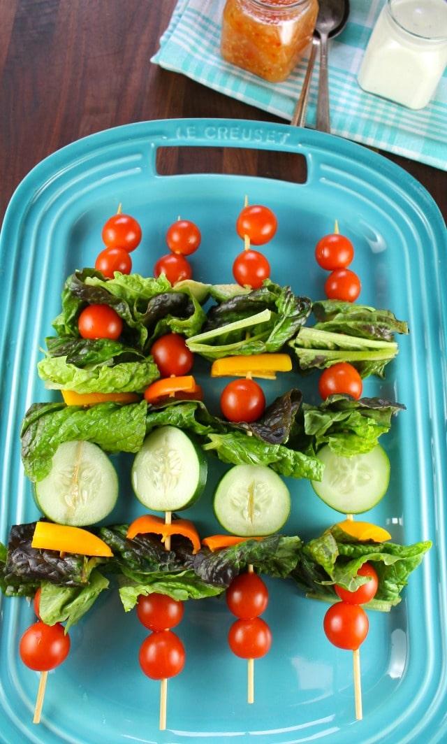 Salad Kebabs for #ProgressiveEats from missinthekitchen.com