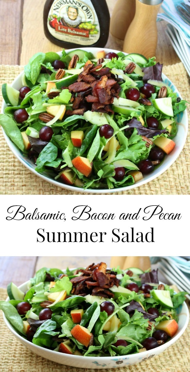 Balsamic, Bacon and Pecan Summer Salad Recipe found at Miss in the Kitchen