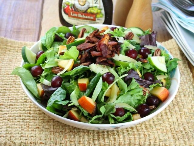 Balsamic, Bacon and Pecan Summer Salad Recipe missinthekitchen.com