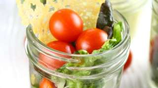 Summer Salads in Jars with Dubliner Cheese Crisps & Avocado Dressing