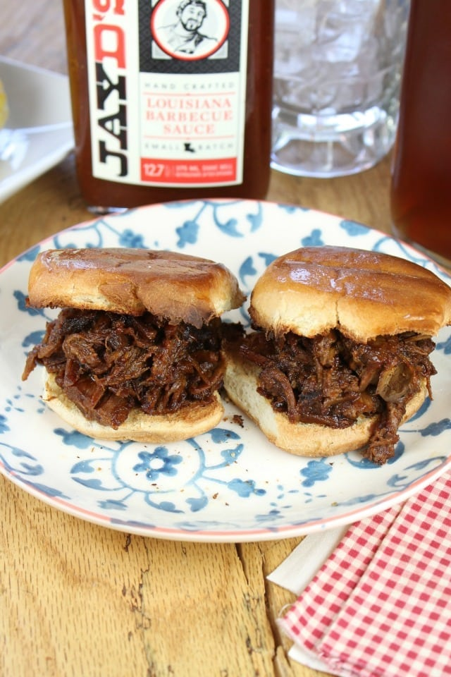 Jay D's Barbecue Beef Sliders Recipe  from Miss in the Kitchen