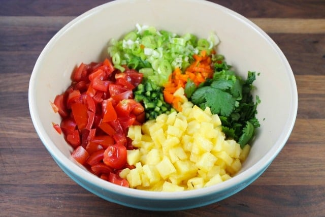 Pineapple Pico de Gallo from Miss in the Kitchen
