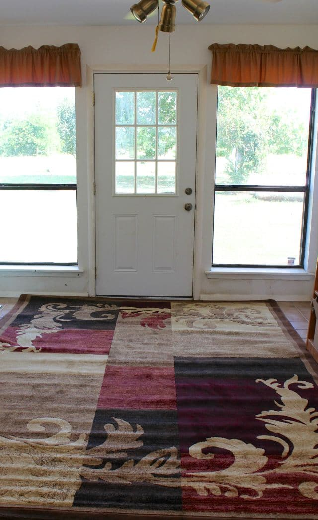 Making a Welcoming Entry Way Wayfair Home Dynamix Catalina Area Rug from Miss in the Kitchen