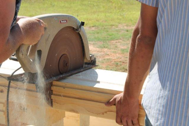Cut to fit Logs for Log Cabin  missinthekitchen #LogCabinSaturday