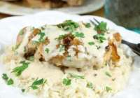 Slow Cooker Pork Chops with Sour Cream Sauce from missinthekitchen.com