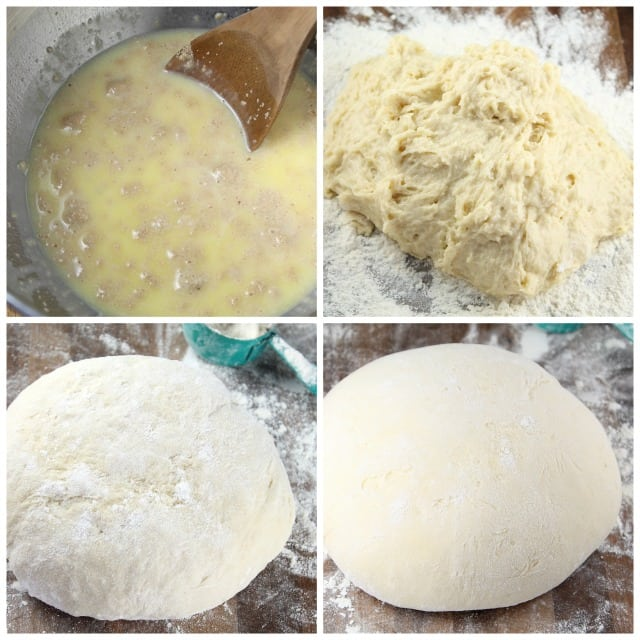 Stages of Sweet Roll Dough with Red Star Yeast from Miss in the Kitchen