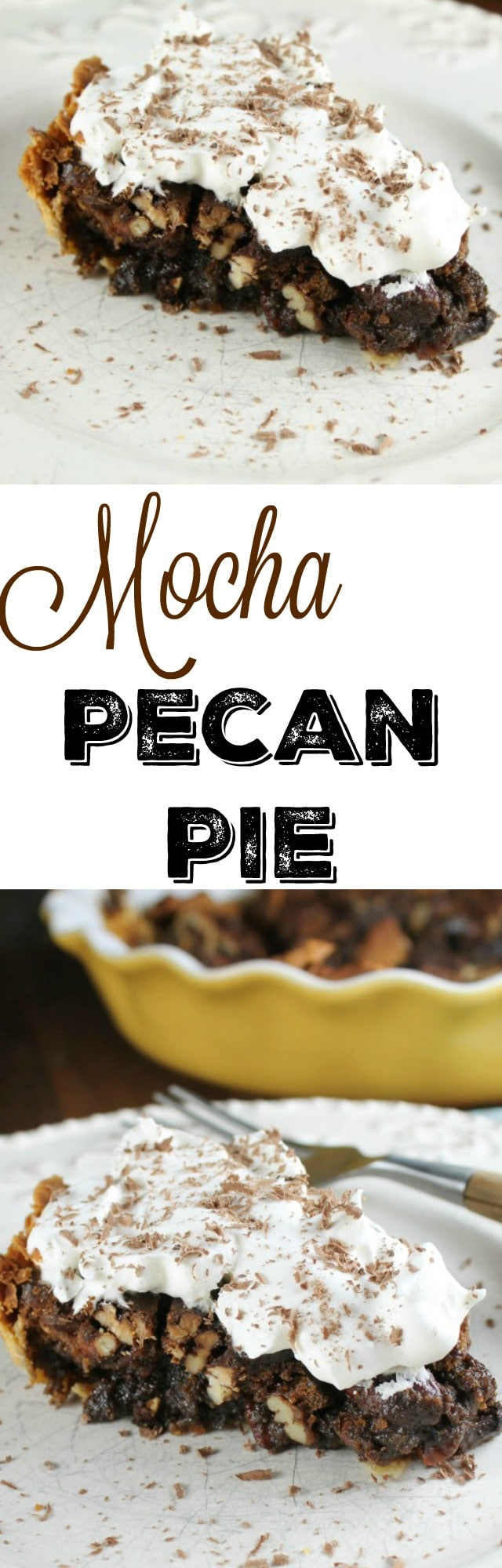 Mocha Pecan Pie Recipe Found at Miss in the Kitchen #ad