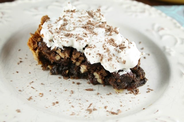 Mocha Pecan Pie from Miss in the Kitchen
