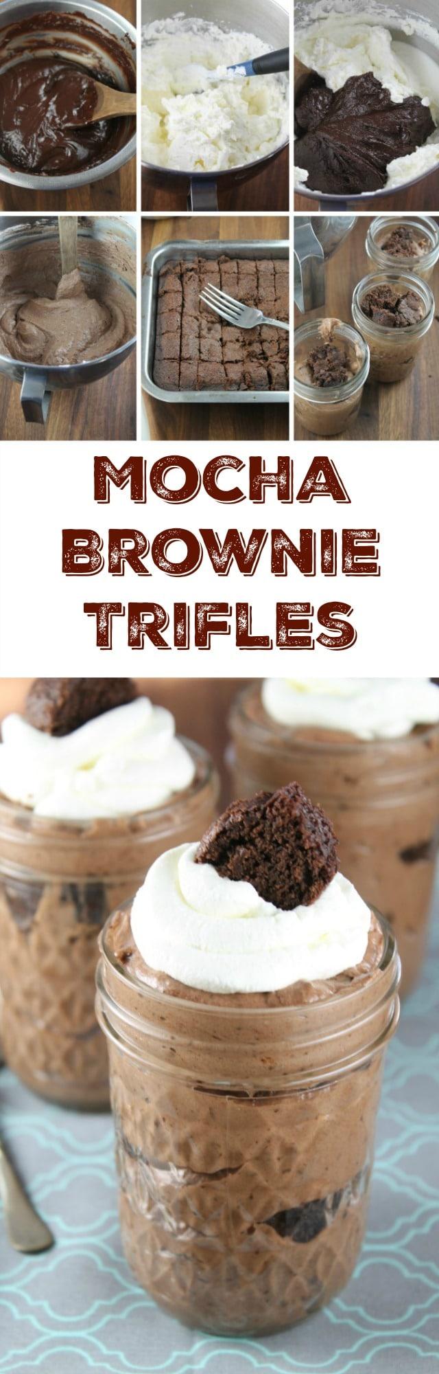 Recipe for Mocha Brownie Trifles found at MissintheKitchen.com #KACraftCoffee