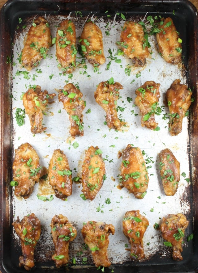 Asian Chicken Wings Appetizer Recipe with Musselman's Apple Butter from MissintheKitchen.com #AppleButterSpin