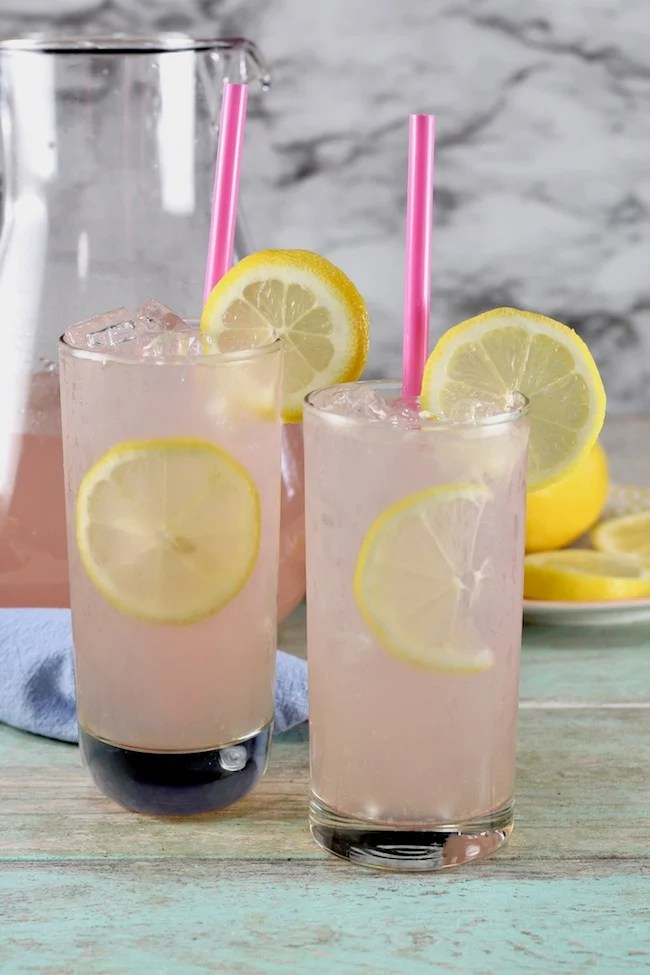 Large batch cocktail ~ Sarasota Lemonade made with moscato wine