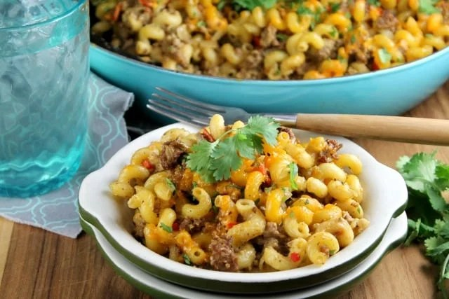 Zesty Taco Pasta Bake Recipe ~ Miss in the Kitchen ~ Easy comfort food