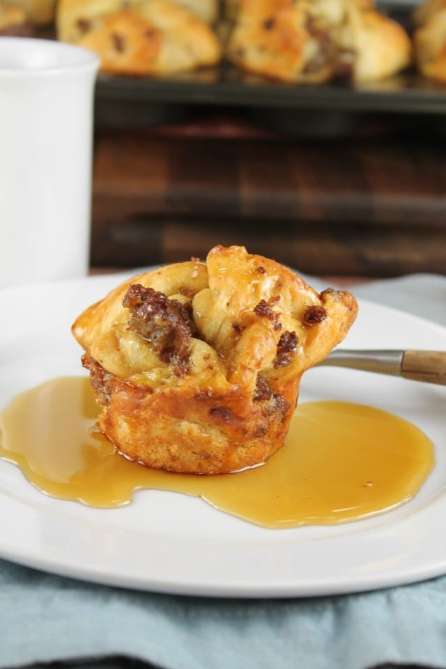 Sausage Monkey Bread Muffins Recipe ~ a delicious make ahead breakfast to enjoy all week! From MissintheKitchen.com
