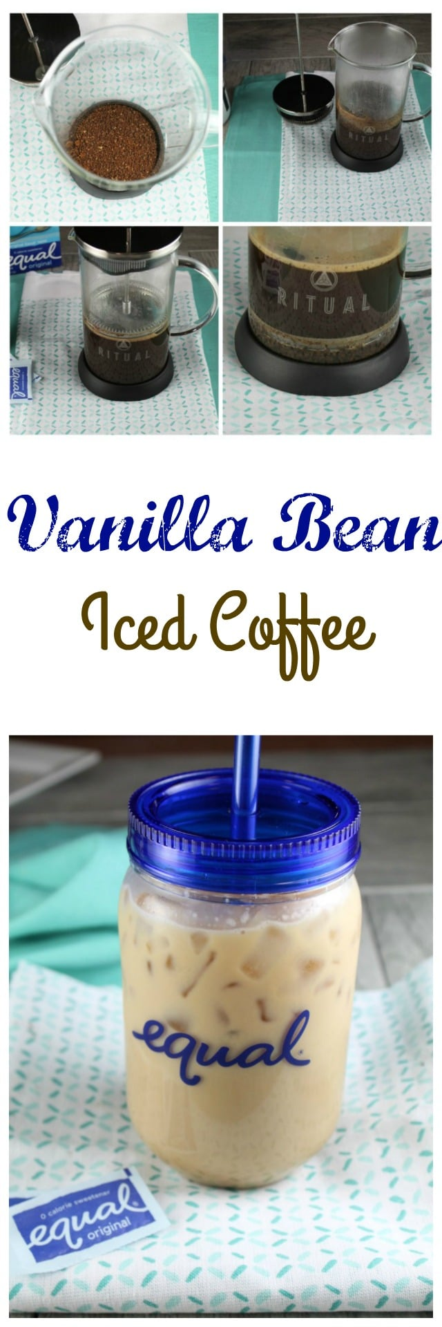 Vanilla Bean Iced Coffee Recipe from missinthekitchen.com #sponsored