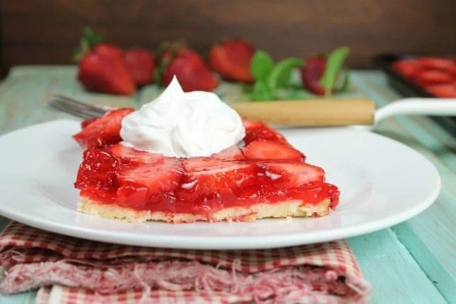 Strawberry Slab Pie Recipe from Miss in the Kitchen
