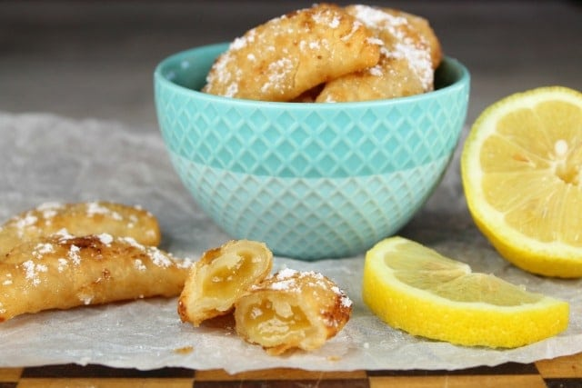 Fried Lemon Hand Pies are the ultimate mini dessert recipe from MissintheKitchen.com