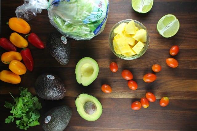 Pineapple Guacamole Recipe Ingredients from MissintheKitchen.com