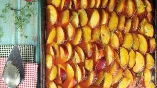 Peach Slab Pie