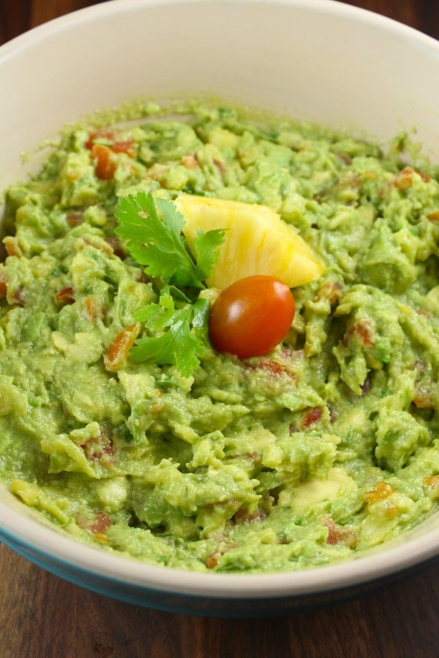 Pineapple Guacamole Recipe from MissintheKitchen.com