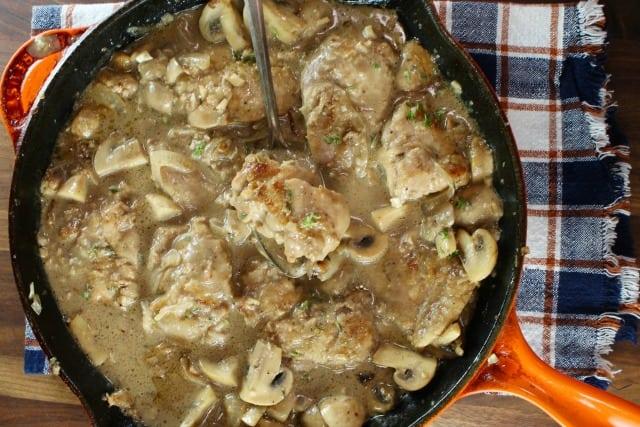 Creamy Balsamic Chicken Skillet Recipe from MissintheKitchen