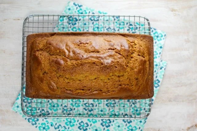 Easy Pumpkin Bread Recipe found at missinthekitchen.com