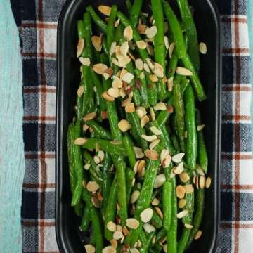 Almond Green Beans Recipe + Easy Dinners with Barber Foods ~ MissintheKitchen.com #ad