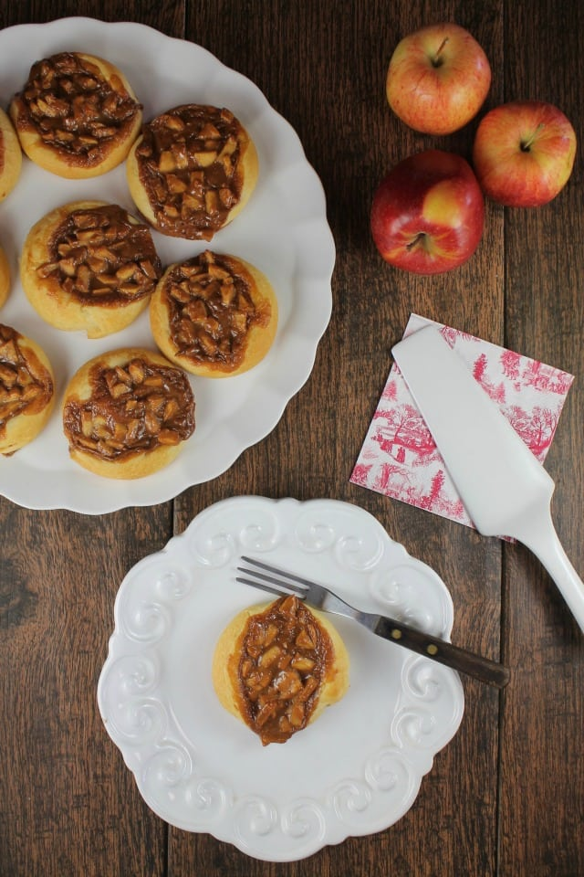 Caramel Apple Danish Recipe from MissintheKitchen.com for a fantastic fall holiday treat! #ad