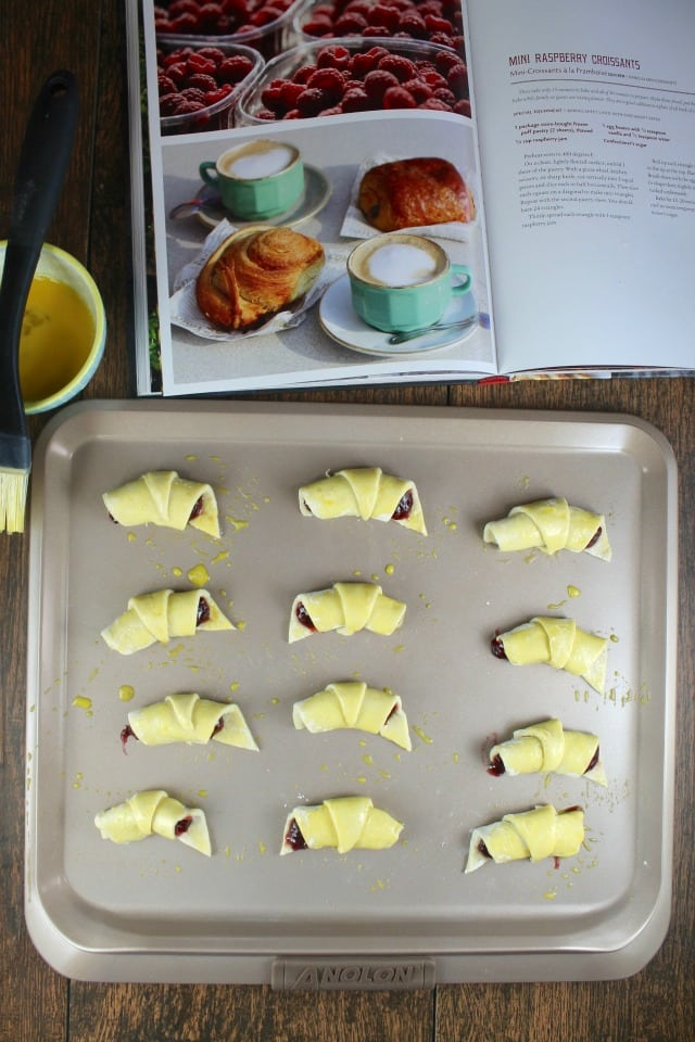 Mini Raspberry Croissants Dessert Recipe from French Desserts by Hillary Davis ~ MissintheKitchen.com