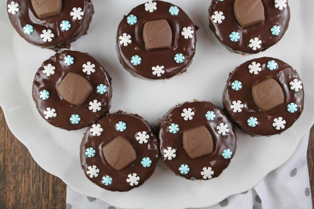 Triple Chocolate Snack Cakes From MissintheKitchen.com #ad