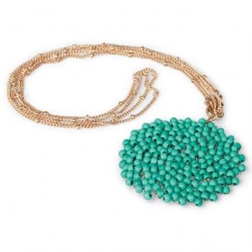 Turquoise Medallion Necklace from World Vision Catalog ~ MissintheKitchen.com