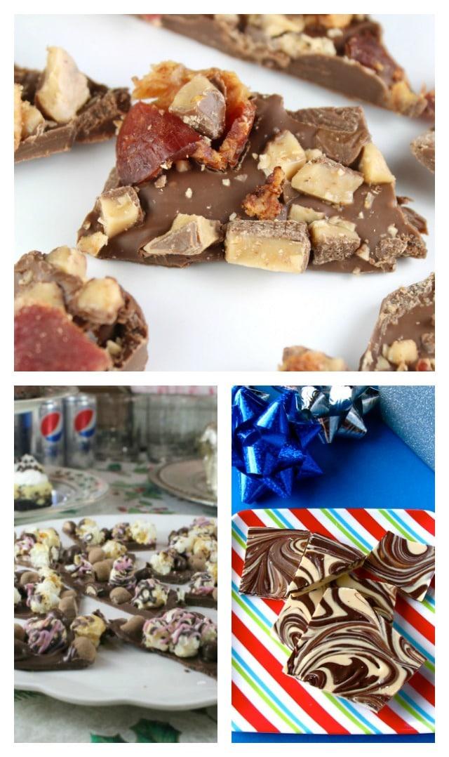 Chocolate Bark Recipes from MissintheKitchen.com