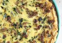 Sausage Spinach Quiche Recipe ~ MissintheKitchen.com