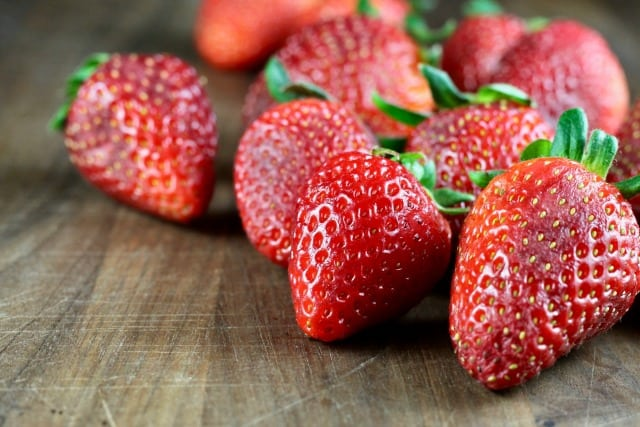 Fresh Strawberries Photo for Strawberry Daiquiri Cocktail Recipe ~ MissintheKitchen.com
