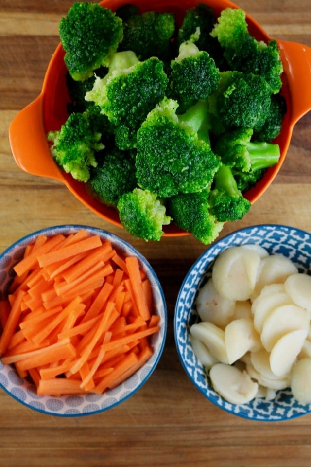 Veggies for Quick Lemon Chicken Broccoli Bowls