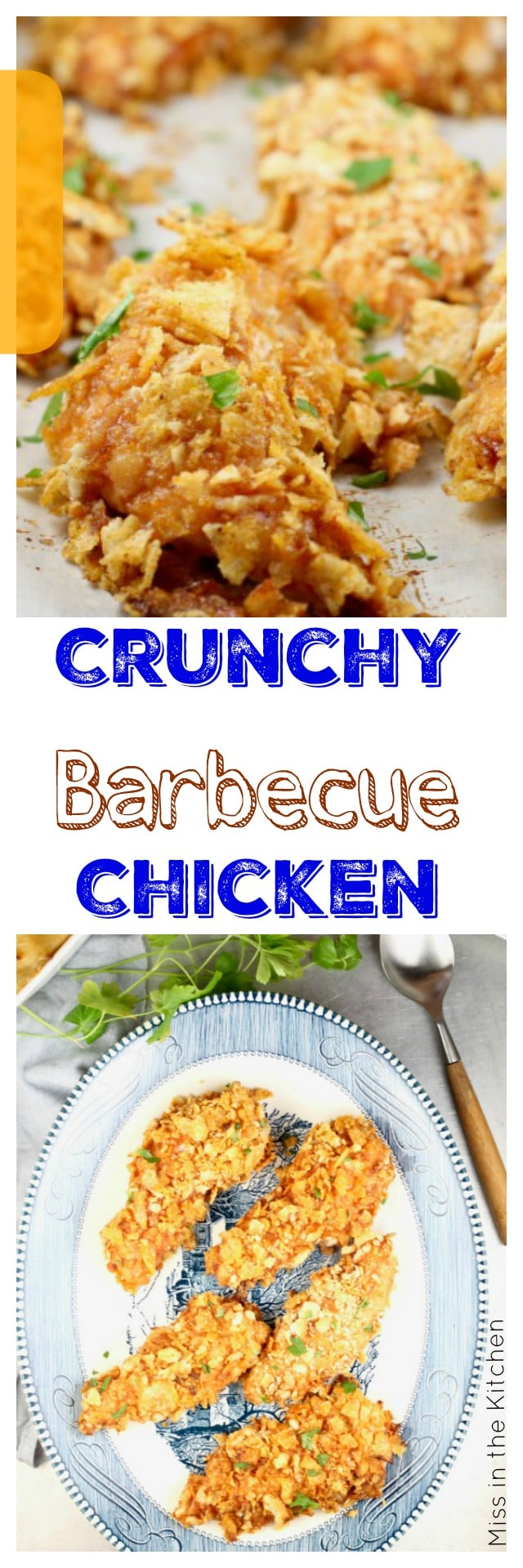 Crunchy Barbecue Chicken Tenders are a great addition to your weekly dinner plans from MissintheKitchen.com