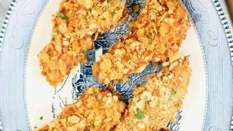Crunchy Barbecue Chicken Tenders Recipe ~ easy family dinner ~ MissintheKitchen.com