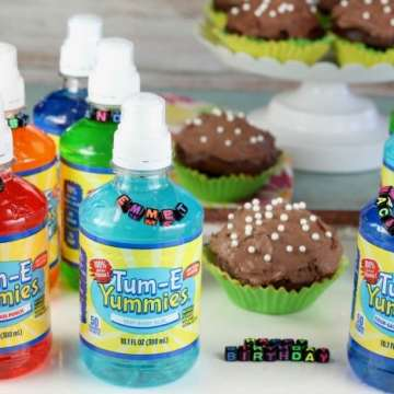 DIY Birthday Party Drink Charms are a fun way for kids to keep track of their drink during parties and also make a fun keepsake! From MissintheKitchen.com