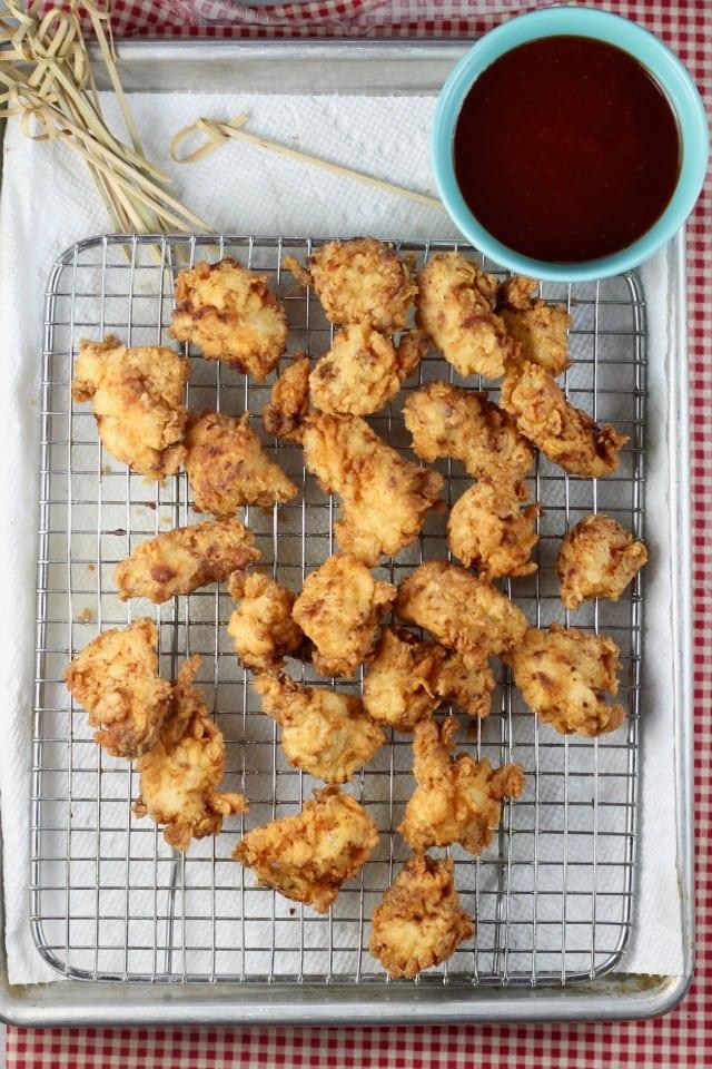 Easy Popcorn Chicken Recipe ~ MissintheKitchen.com