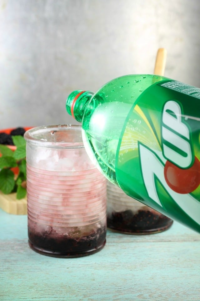 Easy Blackberry Mojitos Recipe made so simply with 7UP! Get the recipe and more at MissintheKitchen.com #ad #MixItUpALittle