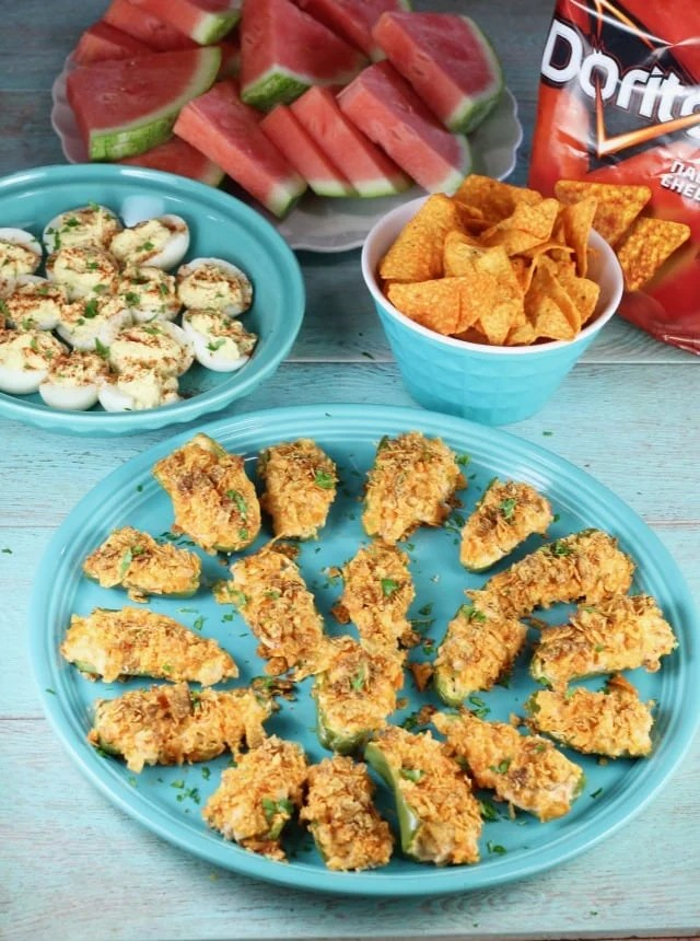 Doritos Chicken Jalapeno Popper Recipe for cookouts and family get togethers from MissintheKitchen.com #ad #SayYesToSummer