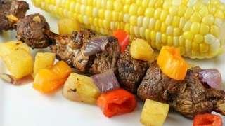 Balsamic Pork Skewers