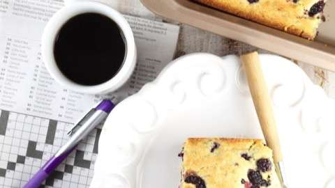 Blackberry Cornbread Recipe for an easy breakfast treat ~ From MissintheKitchen.com