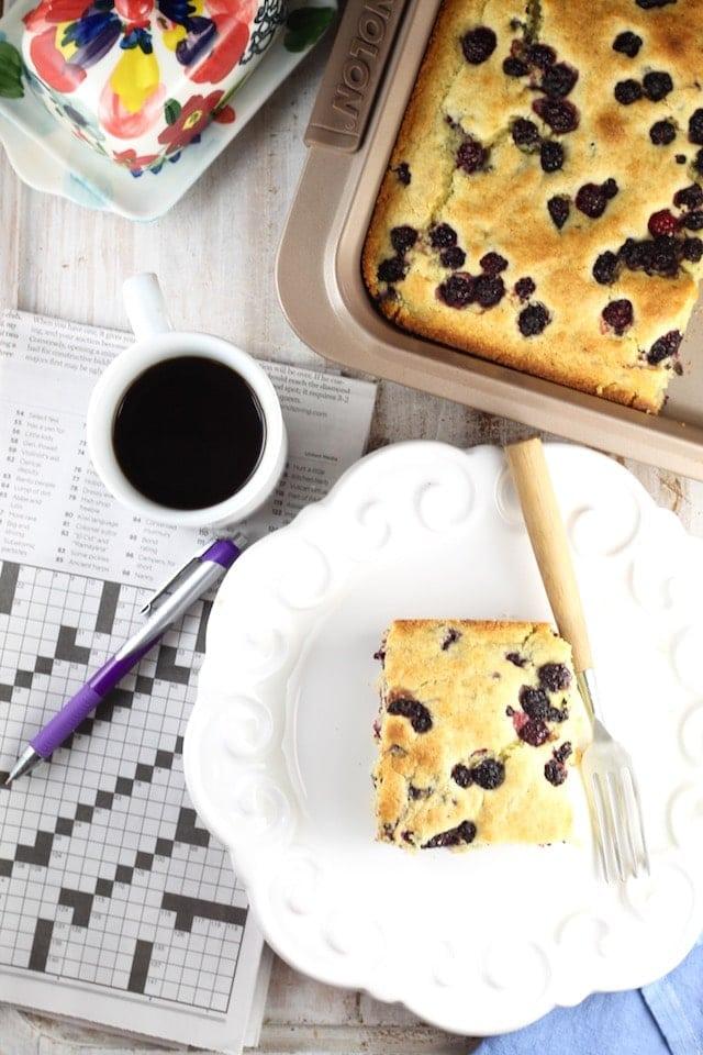 Blackberry Cornbread Recipe for an easy breakfast treat ~ From MissintheKitchen.com