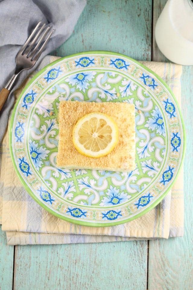 Lemon Icebox Cheesecake ~ No Bake Dessert Recipe from MissintheKitchen.com