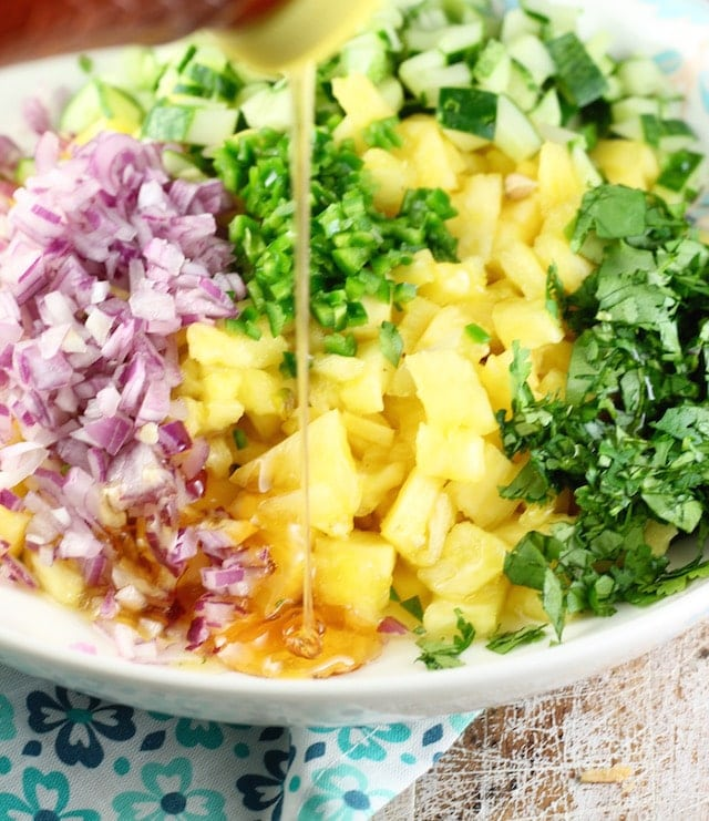 Pineapple Jalapeno Relish Recipe ~ easy addition to any dinner ~ MIssintheKitchen.com