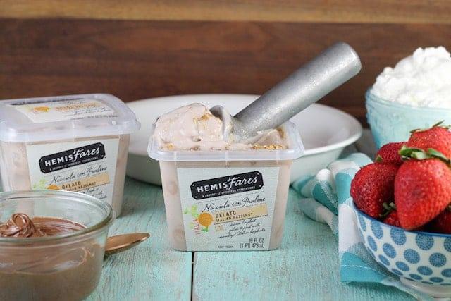 Ingredients for Hazelnut Gelato Pie Recipe ~ MissintheKitchen.com